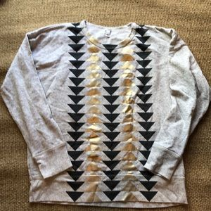 J Crew Aztec print sweatshirt Sz XL